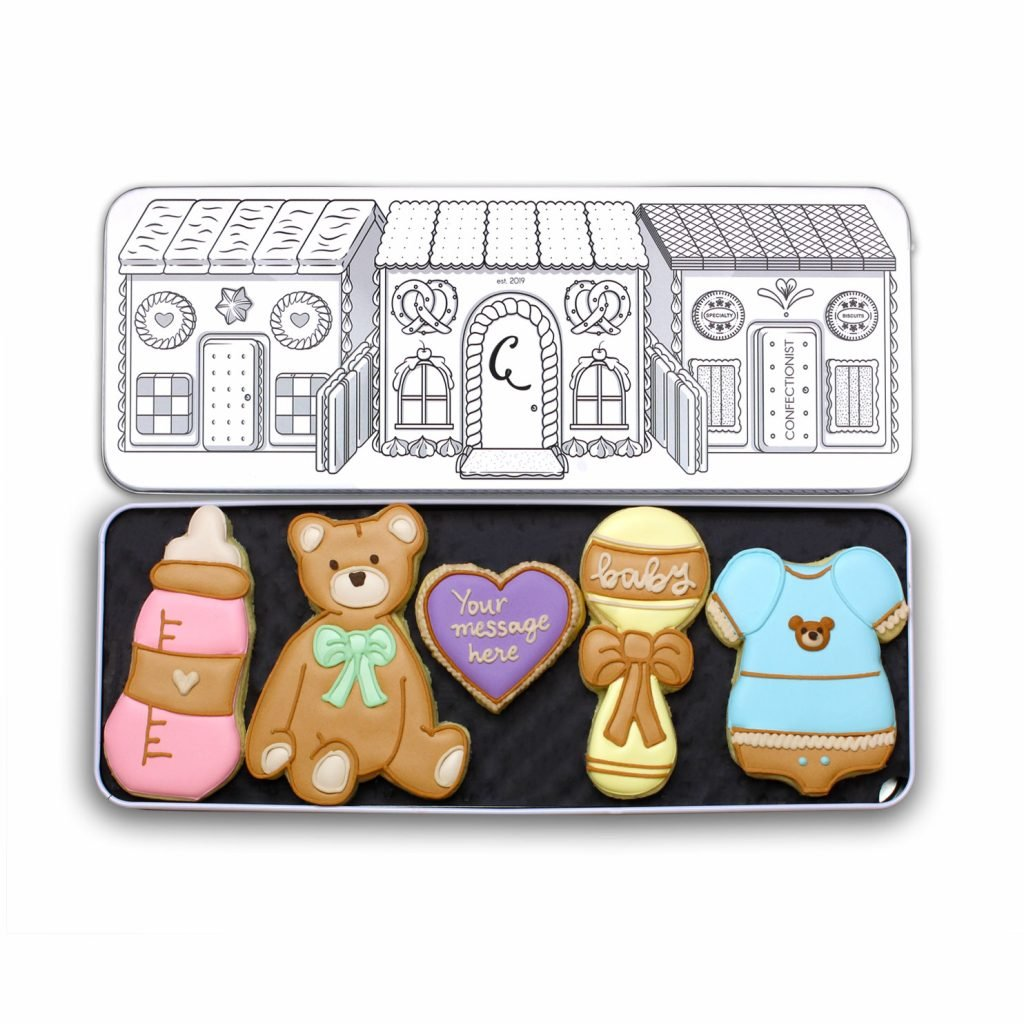 New Baby Biscuit Set Tin