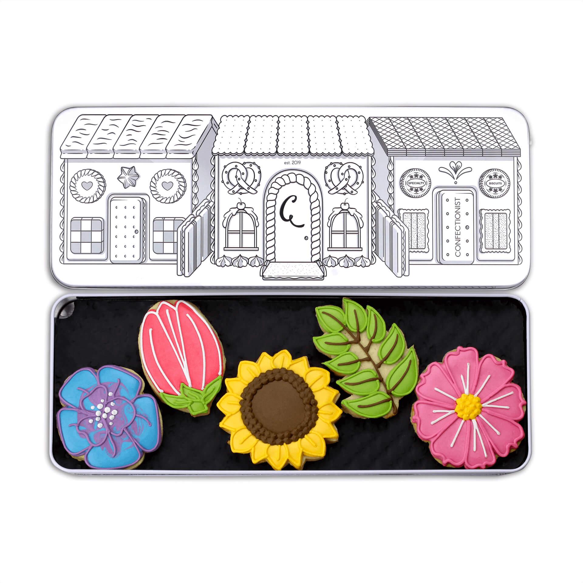 floral set biscuits