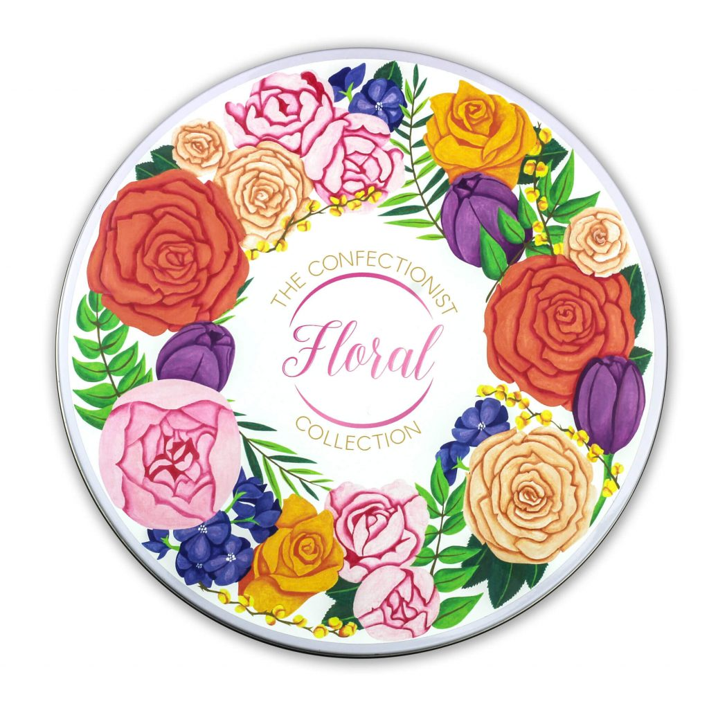 Floral Collection Tin Lid
