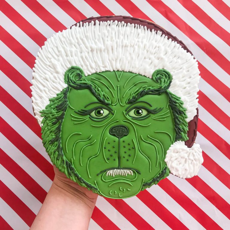 Grinch Face Biscuit insta photo