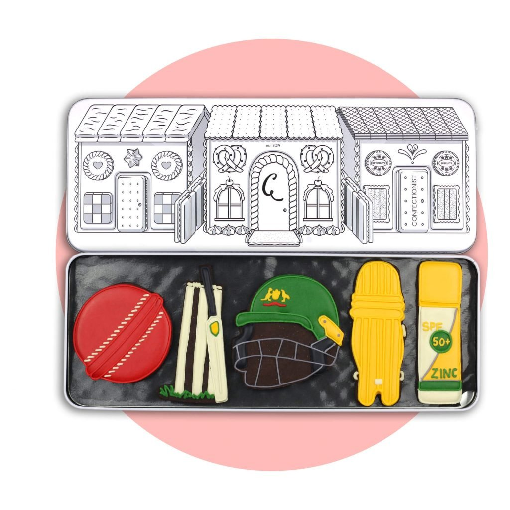 Cricket set with pink background