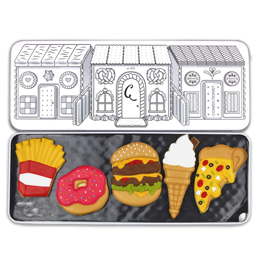 junk food set in tin