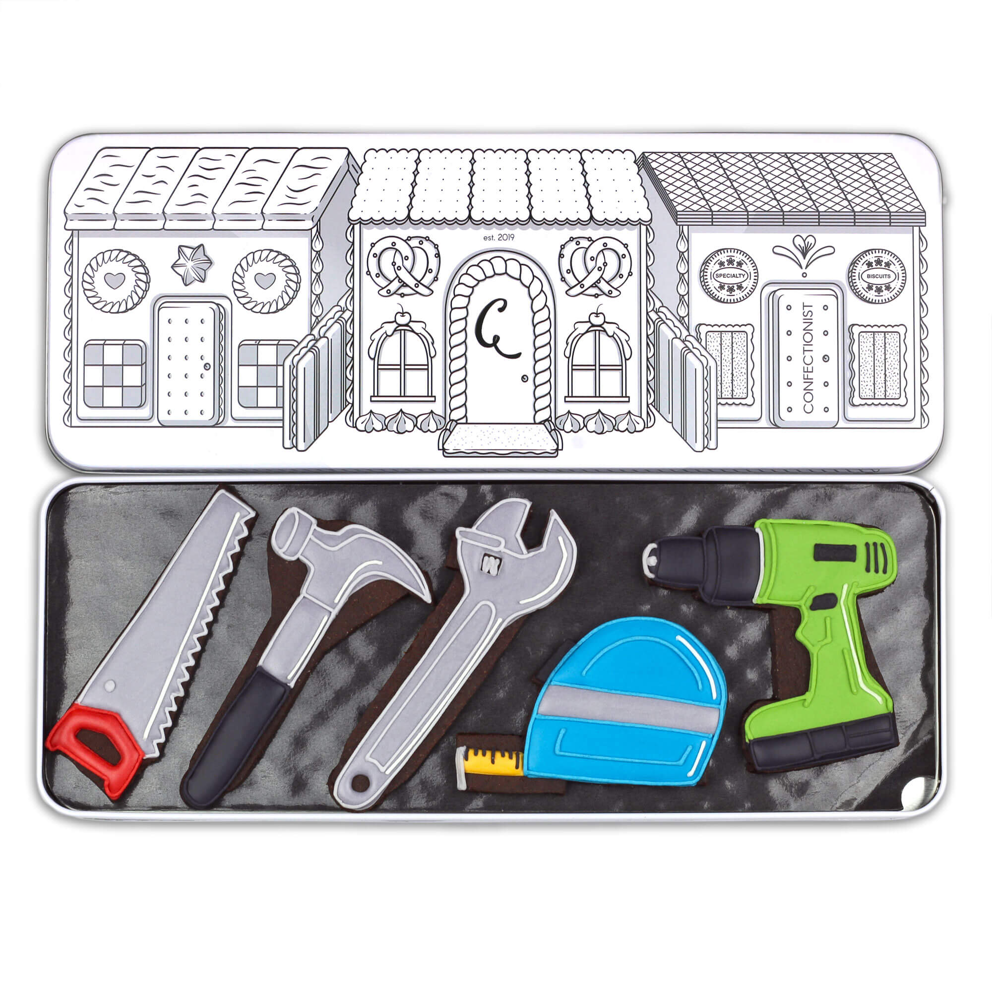 toolkit cookie set in tin for gift