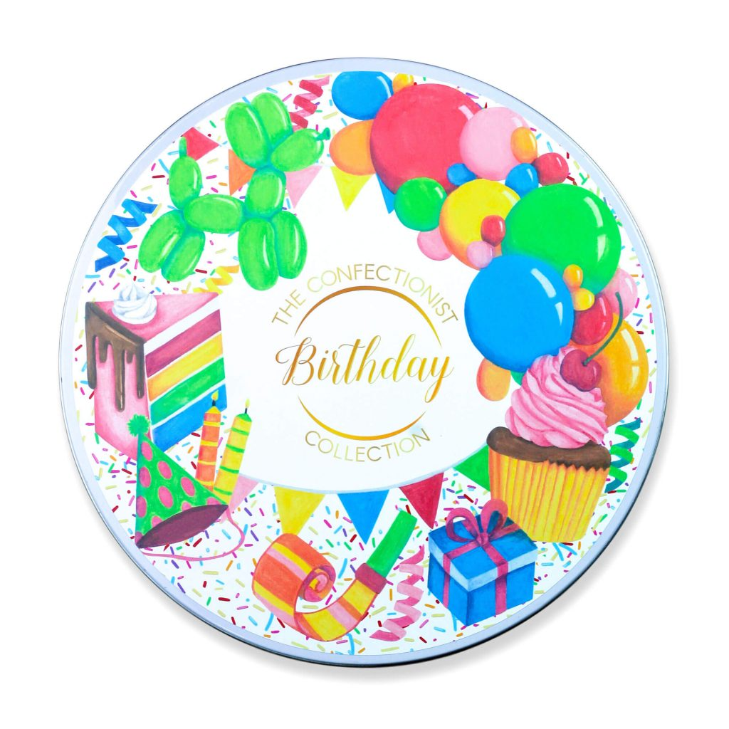 Birthday Personalised Cookie Collection Tin Lid