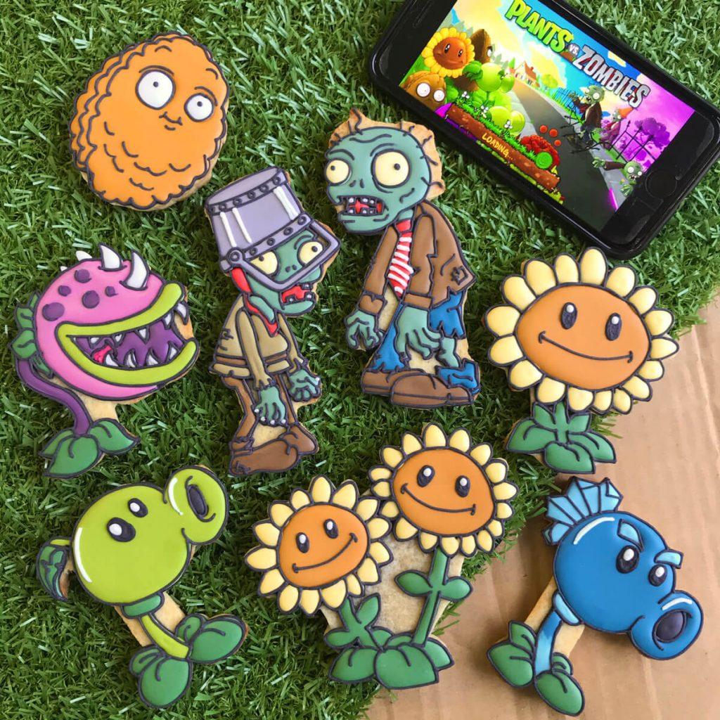 plant vs zombies custom cookies