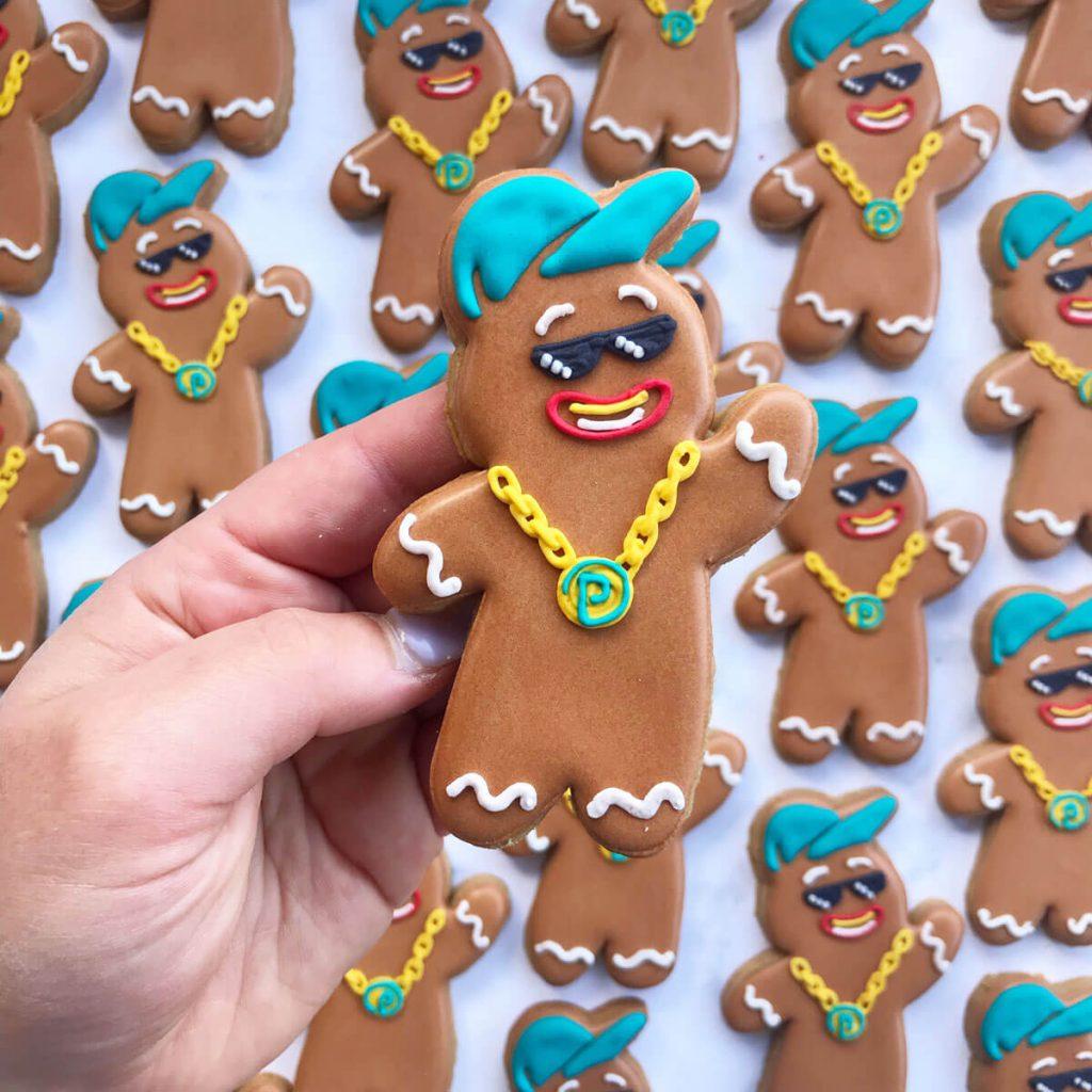 platypus gingerbread man cookie