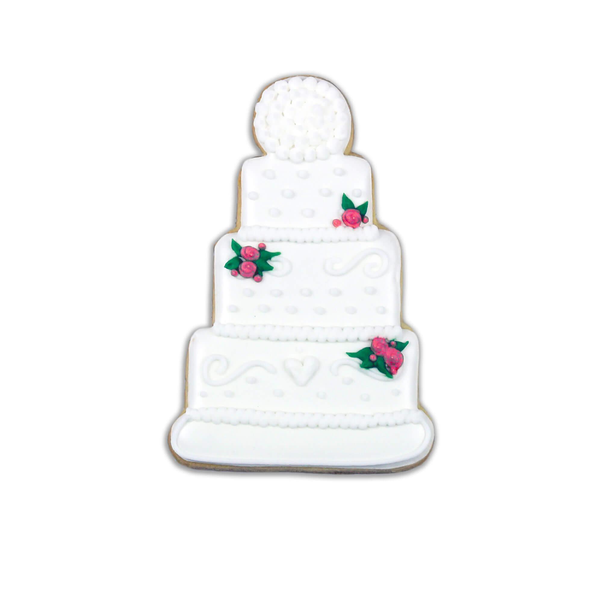 wedding cake biscuit individual