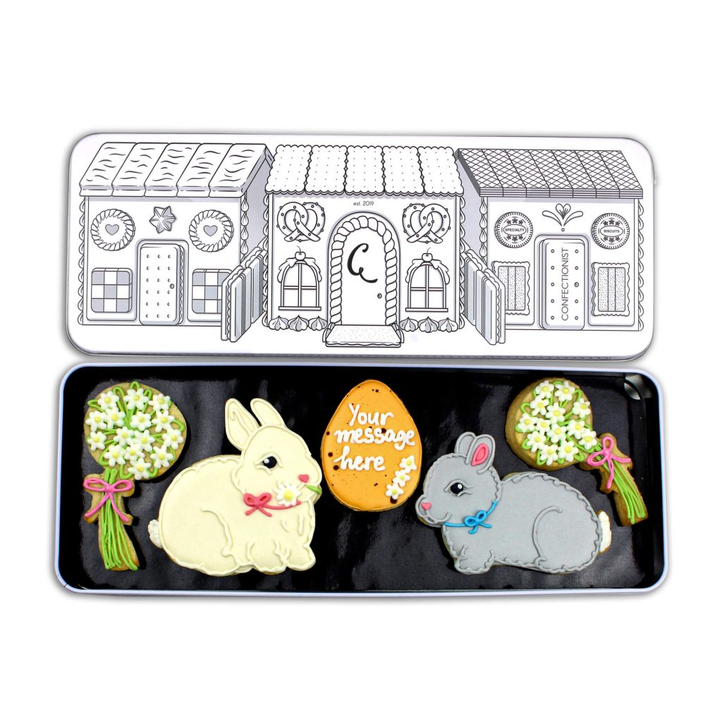 Easter Bunny Sugar Cookie Set in Tin
