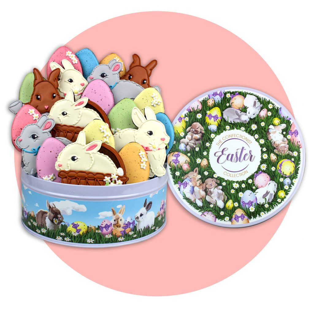 Easter Gift Cookie Collection Tin