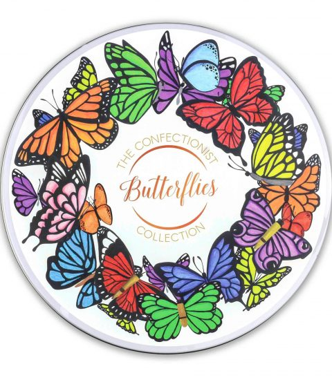 Butterflies Biscuit Collection Tin Lid